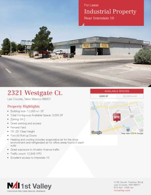 Industrial Property Near I-10 For Lease