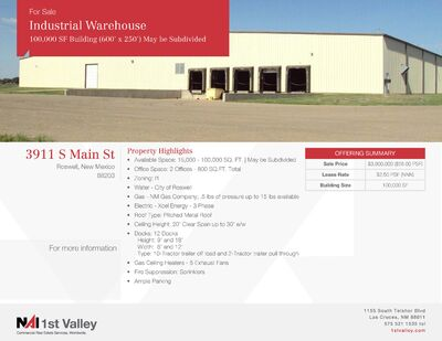 Large Warehouse For Sale or Lease